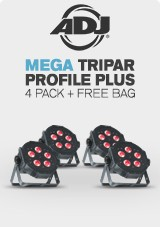 ADJ Mega TRIPAR Profile Plus 4 Pack