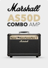 Marshall AS50D Akustisk Combo Amp, Limited Edition Sort