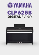 Yamaha CLP625B Digital Klaver, Satin Sort