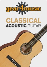 3/4 klassisk Guitar, naturel, fra Gear4music