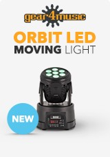 gear4music ORBIT Moving Head Light